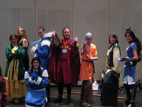 Avatar cosplay group shot