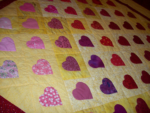 Hearts Quilt Close Up