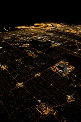 Los Angeles aerial suburbs @ ISO 6400 (Tomorrow Bystander) Tags: california city homes sky usa streets night canon buildings landscape eos lights coast photo losangeles cityscape streetlights flight aerial iso lax carlsbad 6400 noisereduction clb iso6400 5dmarkii 5dmk2