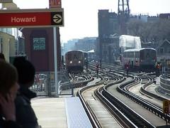 Howard> (Mr. Montrose) Tags: chicago train cta zoom belmont platform trains l lakeview trainviews elevared