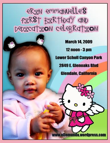 hello kitty invitations. Hello Kitty Invitation