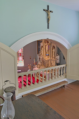 Old Saint Ferdinand Shrine, in Florissant, Missouri, USA - Convent balcony 2
