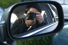 Hello! (FigureFour24) Tags: car mirror sony side a200
