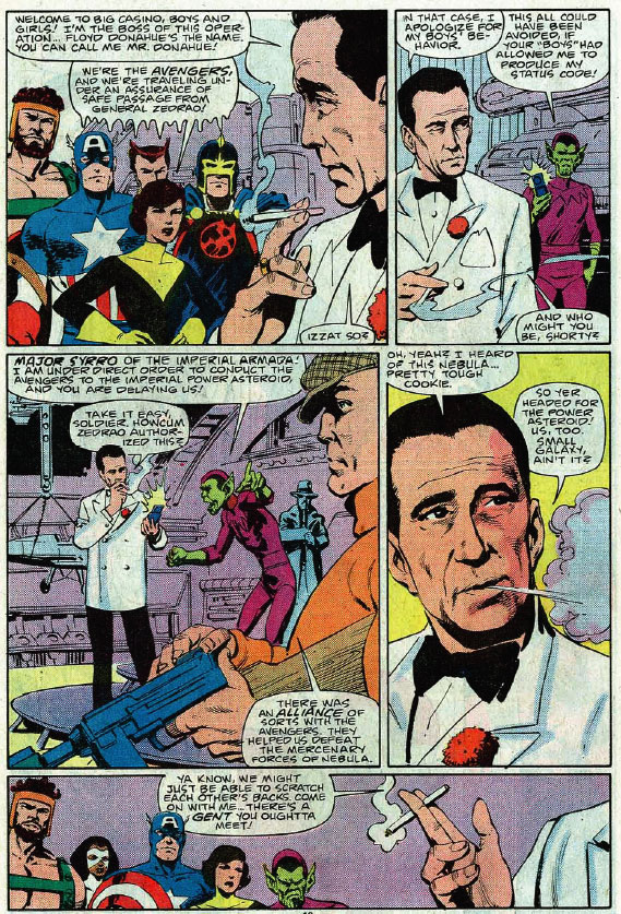 The Avengers meet Skrull Humphrey Bogart