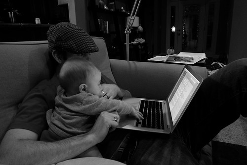 Jack & Daddy on the computer