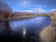 Owens Valley Before Sunrise With Mount Tom (kevin mcneal) Tags: california landscape twilight bishop owensvalley easternsierras mounttom owensriver vosplusbellesphotos