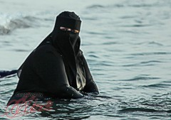 Even covered women like a dip in the sea! (Ausamah) Tags: history sex bahrain gulf middleeast hijab culture arabic east arab historical arabian middle niqab manama bahraini                               albahrain             flowerofislam