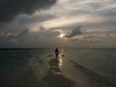 Walking in the high tide (presbi) Tags: sunset tramonto maldives aplusphoto concordians saariysqualitypictures redmatrix tripleniceshot mygearandme mygearandmepremium mygearandmebronze 4timesasnice 6timesasnice 5timesasnice 7timesasnice rememberthatmomentlevel1