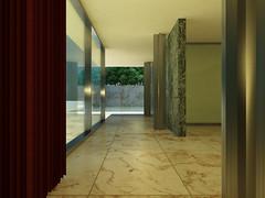 Barcelona Pavilion Rendering (Daave P) Tags: school portfolio mies rendering bac 3dsmax barcelonapavilion