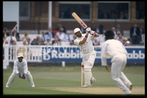 Graham Gooch on his way to 333-England vs India 1st test Lords 1990