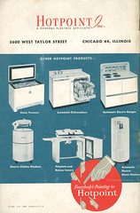 1948 Hotpoint Instructions and Recipes (Back Cover) (captainpandapants) Tags: food house 1948 home kitchen vintage hands oven sink fingers cook dry retro cleaning clean eat wash 1940s stove 1950s heat redball dishwasher freezer waterheater household appliances hotpoint kistch fingerpoint clotheswasher flatplateiron