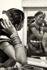 Indian Engagement (sathyan.ram) Tags: wedding blackandwhite bw reflection glass mirror engagement nikon traditional malaysia henna potrait hindu hinduism saree ipoh mehndi engage bangles perak potraiture nirmala d90 hinduculture bercham blackwhitephotos