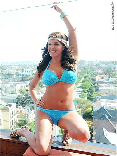 Danielle Lloyd - blue bikini photo