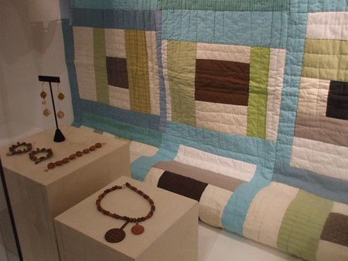 my jewelry + one of Denyse Schmidt's quilts