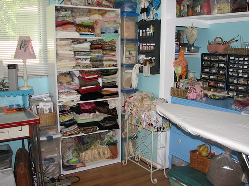 this bookcase has velvet, linen, dyed cheese cloth, muslin, satin, brocade,feed sack, flour sack and chiffon