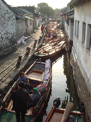 Crowded Boat Dock in Zhou Zhuang (Namisan) Tags: china venice water boats boat dock ancient watertown zhouzhuang crowded