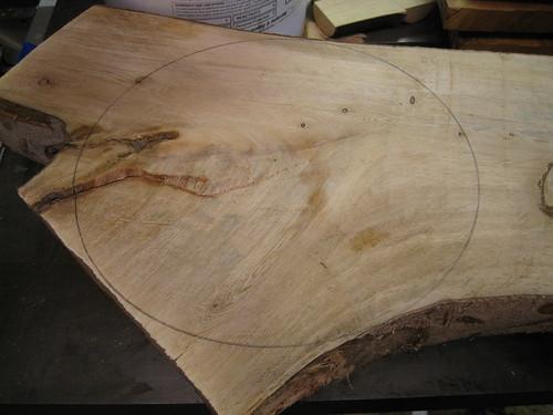 circle drawn on log Y