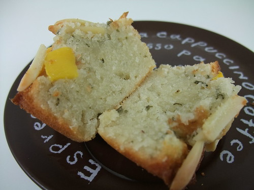 Rosemary and Peach Friands (Interior)
