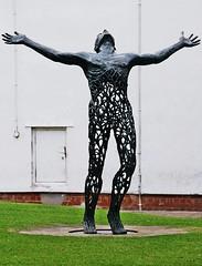 Is Anybody Up There (ihughes22) Tags: sculpture champions darkhorse liverpoolecho aigburth ithinkthisisart liverpooldailypost picturesworthathousandwords paololivornosfriends dragonflyawards