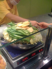 Big honkin' thing of vegetables, they're gonna stir fry 'em for us