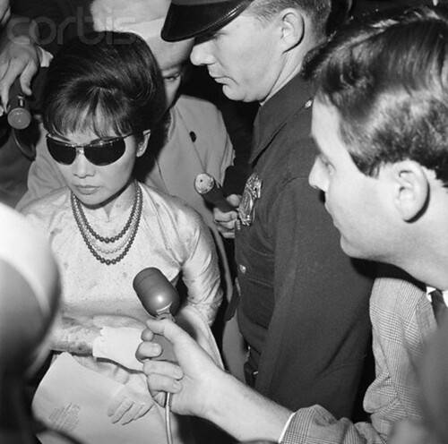 Madame Nhu in California, a few days after the Coup that killed her husband
