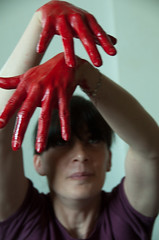 Les mains sales-29 (metatong) Tags: red color painting rouge blood hands acrylic hand main peinture killer murder dexter sang mains guilty murderer coupable acrylique tueur d300 redpaint meurtre meurtrier peinturerouge