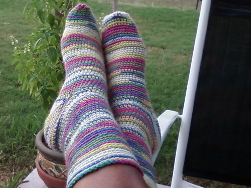 CROCHETED SOCKS!