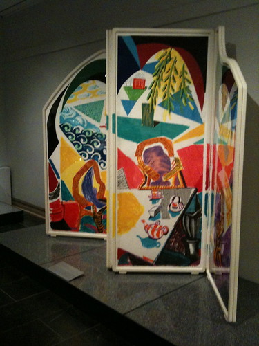 David Hockney screen, design show, Met Museum