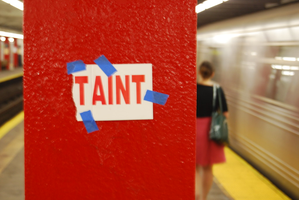 Taint - Altered Wet Paint Sign - New York.
