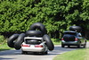hold on tight (NeonMan) Tags: ontario canada car transport tubes doughnuts 2009 carry hold overloaded innertubes