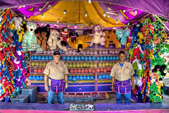 "Fair Midway Carnival Game (IronRodArt - Royce Bair (""Star Shooter"")) Tags: park county carnival game animal animals festival booth balloons toy toys amusement stuffed state outdoor balloon competition fair games entertainment booths prize chance traveling midway prizes darts dart hdr entertain skill popping compete"