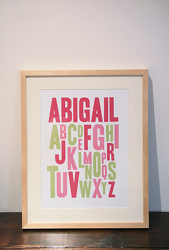 New Alphabet Print
