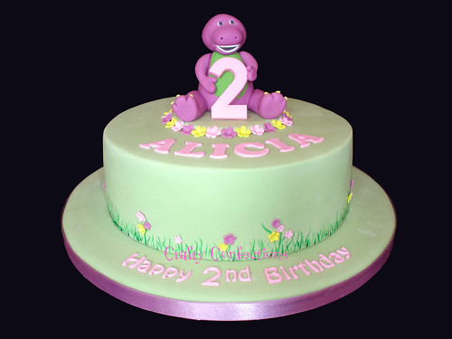 Alicia's Barney Birthday Cake