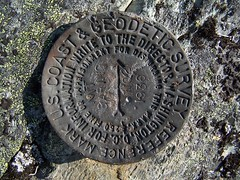 Baring survey marker.