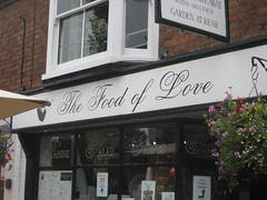 the food of love... (Portia and Paul) Tags: wedding england tourism shop cafe shakespeare tat stratforduponavon foodoflove williamshakespeare bylaw smallbusiness imadethatup cheapshakespearereferences