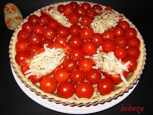 Tarta de cherries-cruda
