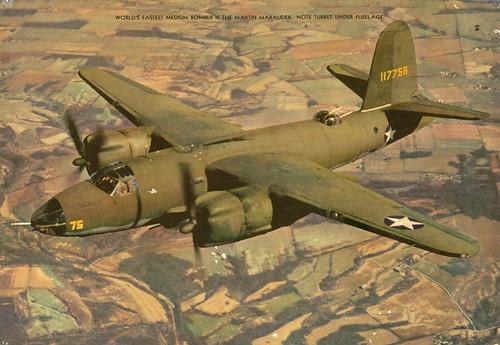 Warbird picture - Martin B-26 Marauder medium bomber short tail