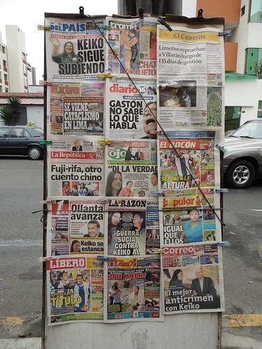 Newspaper stand in Miraflores