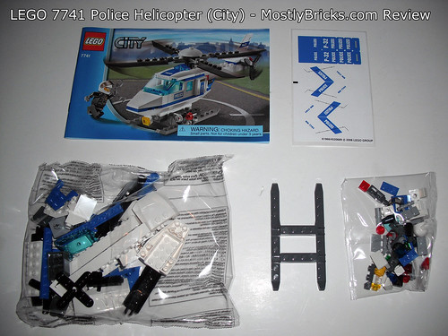 Lego City 7741 Police Helicopter  Lego Speed Build