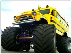 A yellow school bus... (Oxiourus with slow internet) Tags: casio schoolbus bigfoot monstertruck koolbusrides