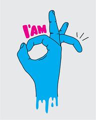 I'M OK (lgnore) Tags: pink blue illustration design clothing hand grafik iam ok ignore