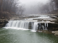 Foggy Morning & White Water (W9NED) Tags: falls cataract