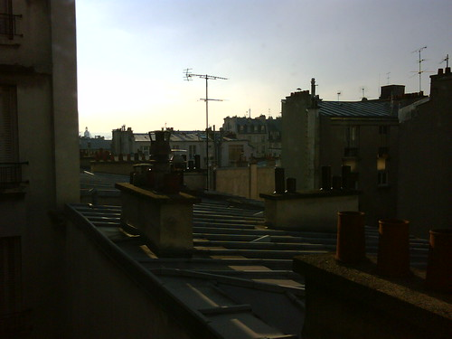 view from bedroom of 7 villa guelma, paris