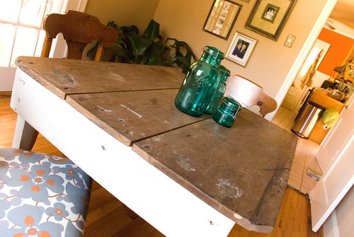primitive dining table with potential