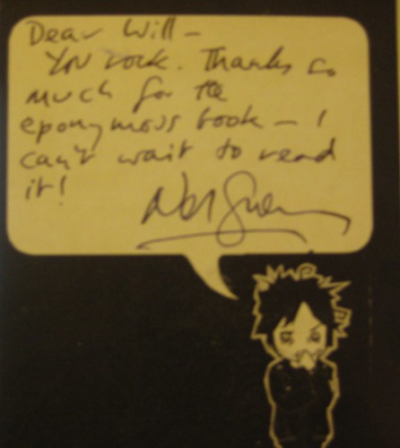 Postcard from Neil Gaiman