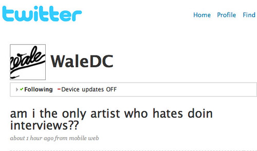 WALE - TWITTER IS NOT YOUR FRIEND
