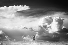 i walk alone (anne()marie) Tags: sky clouds anne blackwhite uniform sp killer heels greenday boulevardofbrokendreams iwalkalone stillinspiredby pleaseviewlargehahaha