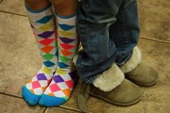 fancy feet (BonBonMom) Tags: feet socks boots fuzzy argyle kneehigh 3661 21365