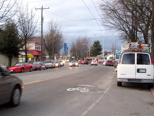 The same intersection, late afternoon in January 2009.