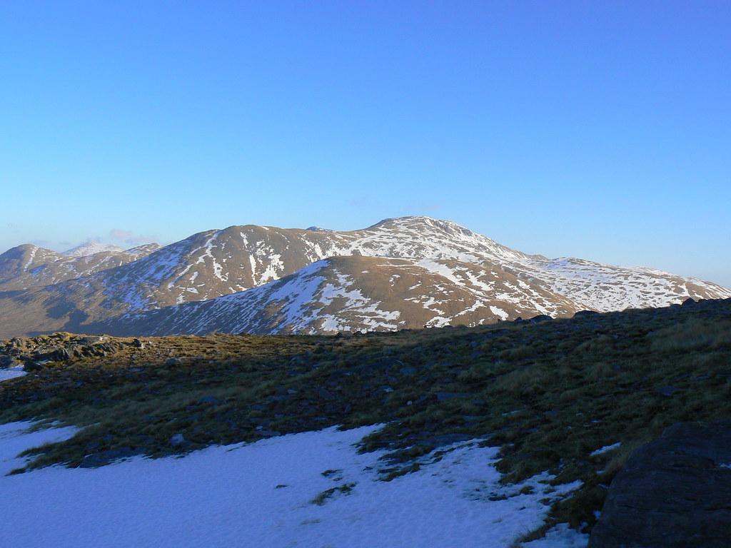 Sgurr Gaorsaic across the ridge